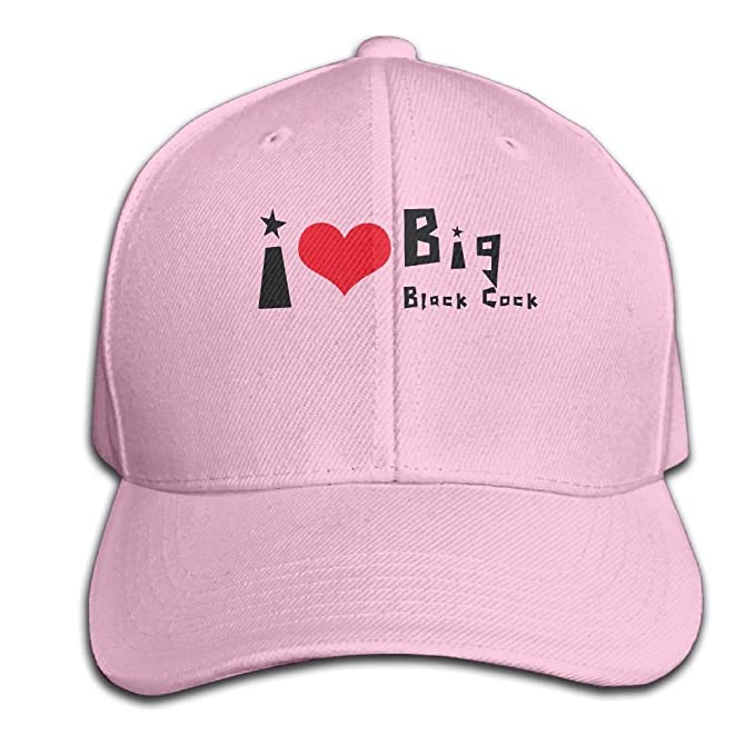 e8f6144729125 Amazon.com: I Love Big Black Cock Unisex Adjustable Plain Hats Fashion  Cotton Baseball Caps Pink: Clothing