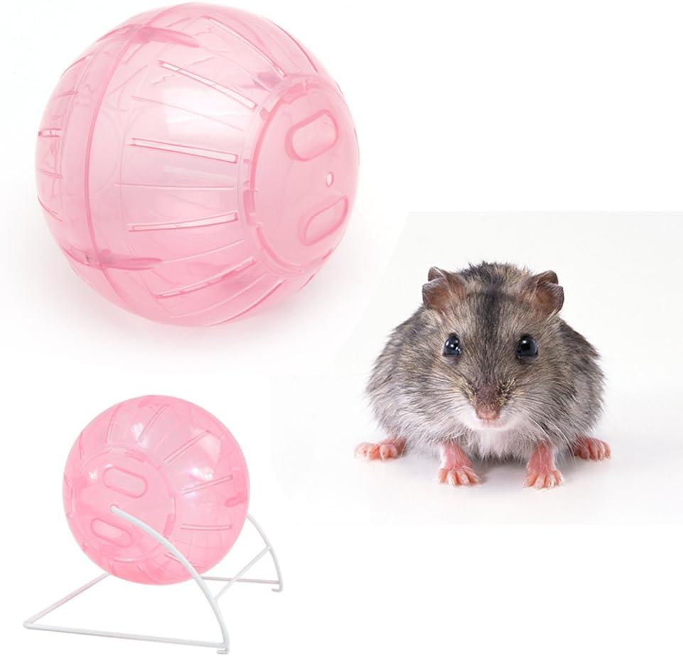 Juguete de pl/ástico con Ritmo de rat/ón h/ámster Transparente BELTI Bola de Ejercicio Colorida para Correr de 12 cm Nuevo