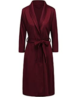 6927a3d2a5 Bath Robe for Womens Soft Kimono Bathrobe Waffle Knee-Length Hotel Spa Robe  Lightweight Dressing