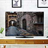 quarter round cord cover - L-QN Cord Cover for Wall Mounted tv Quarter and Bridge Spainish Old Medieval Streets Historical Heritage The Past Cover Mounted tv W25 x H45 INCH/TV 47