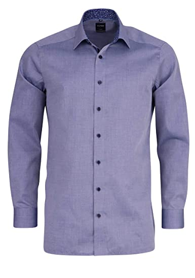 factory outlets catch sports shoes OLYMP Luxor Modern Fit Self Patterned Long Sleeve Shirt ...