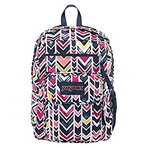 JanSport Unisex Digital Student Navy Watercolor Chevron Backpack