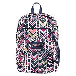 JanSport Unisex Digital Student Navy Watercolor Chevron Backpack