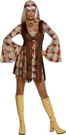 Ladies Groovy Girl Outfit for 60s 70s Fancy Dress Costume