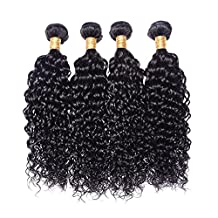JF® 100% human hair India curtain made by water wave wig , 24inch