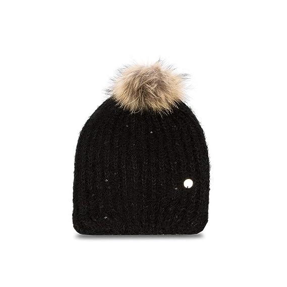 cheaper 4e331 b9e99 Cappello Lana PonPon   LIU Jo   A68261M0300-Nero: Amazon.co ...