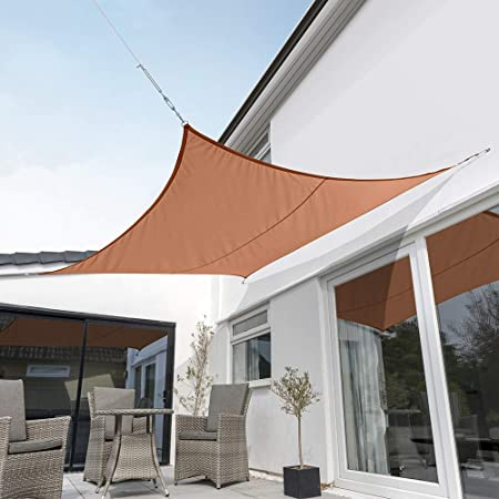 Amazon Com Kookaburra Waterproof Sun Sail Shade Terracotta