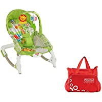 Fisher-Price Newborn To Toddler Rocker Worldwide + Diaper Bag