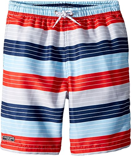 Toobydoo Baby Boy's Stars and Stripes Swim Shorts (Infant/Toddler/Little Kids/Big Kids) Red/White/Blue 9-10 (Eyelet Star Multi)