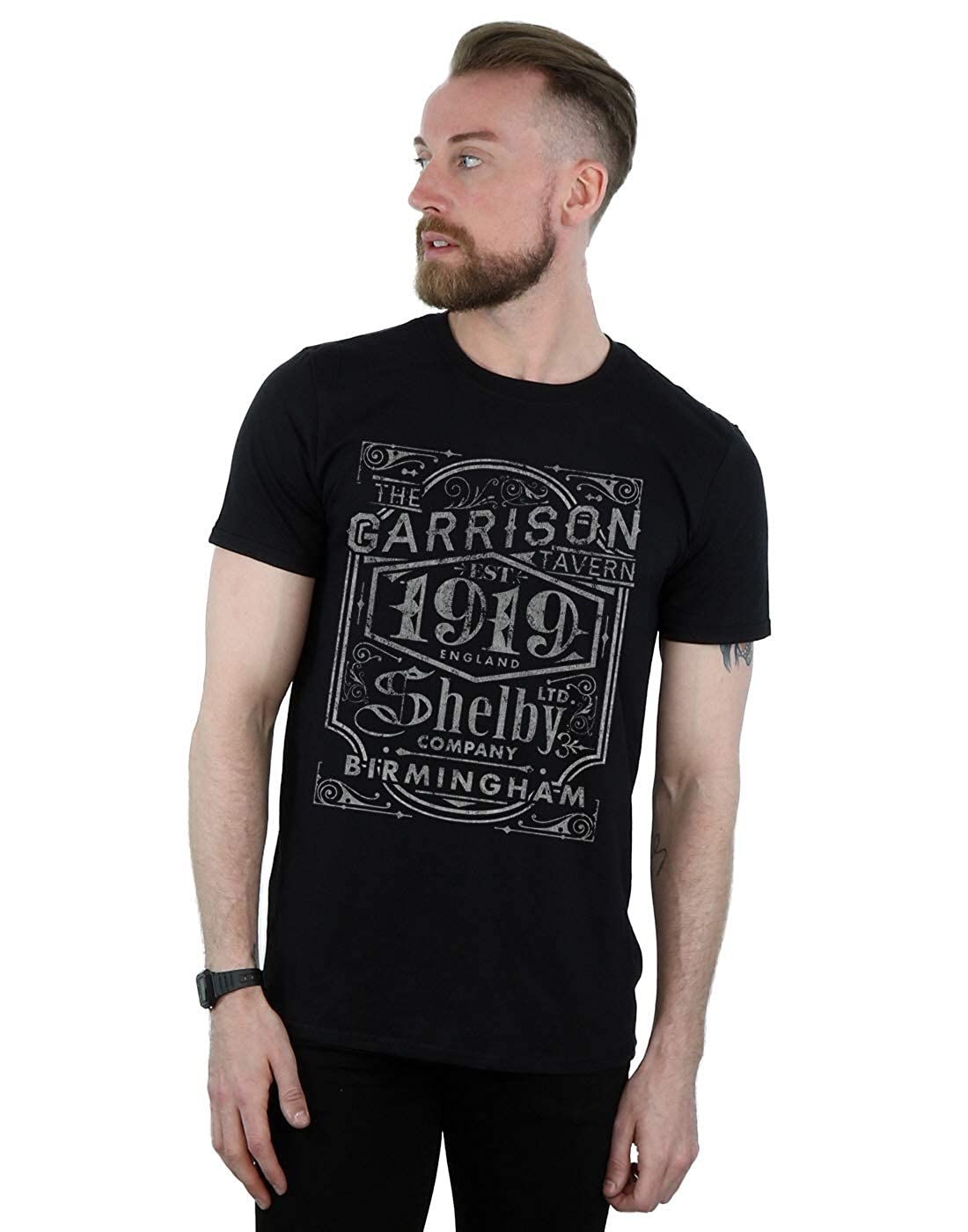 b0f58486dbbdf Absolute Cult Peaky Blinders Men s Garrison Pub T-Shirt Black XX-Large   Amazon