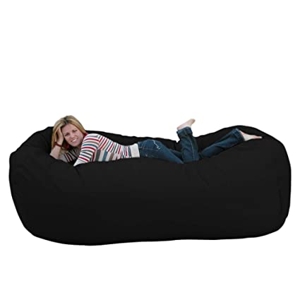 Amazon Com Cozy Sack 8 Feet Bean Bag Chair X Large Black Kitchen
