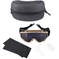SolUptanisu Gafas Casco,Gafas Tácticas Unisex FMA Gafas Antivaho