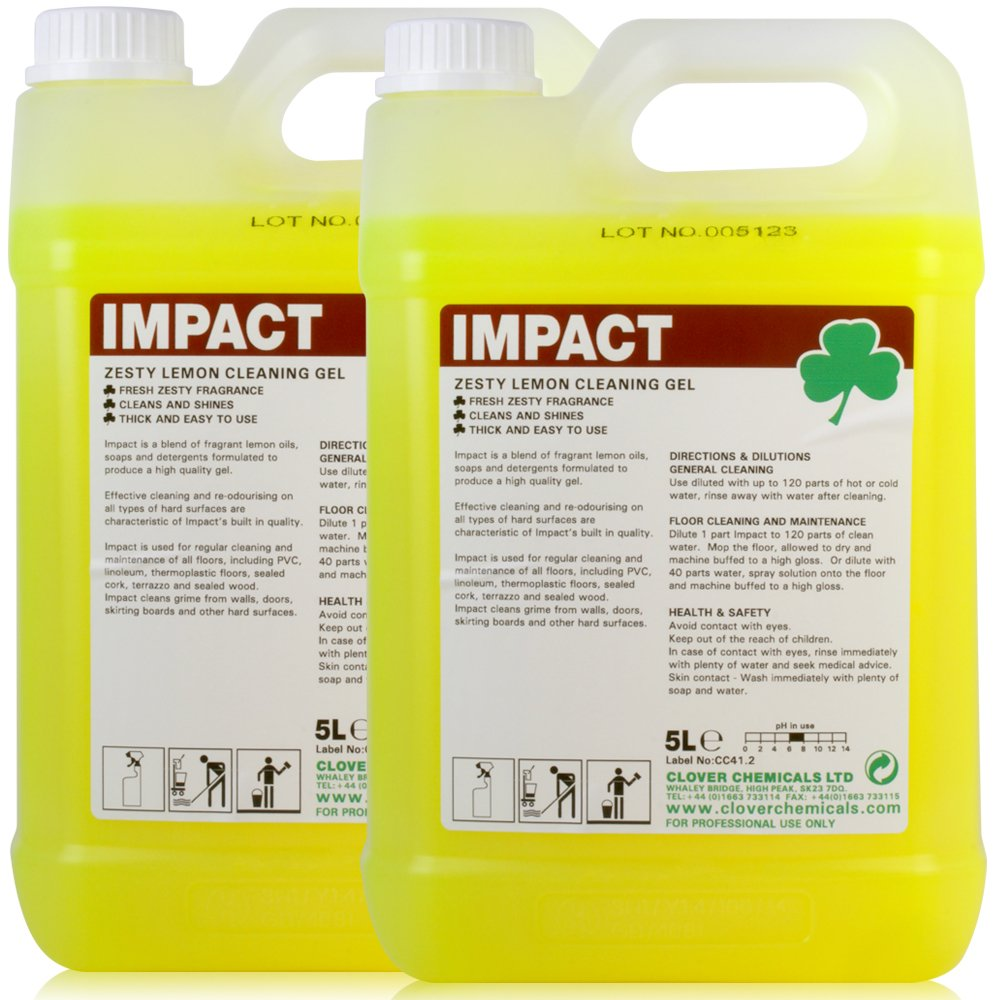 Concentrated Impact Low Foam Heavy Duty Floor Cleaner & Maintainer (10L). - Comes With TCH Anti-Bacterial Pen! Clover