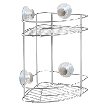 Amazon.com: InterDesign Turn-N-Lock Suction Bathroom Shower Caddy ...