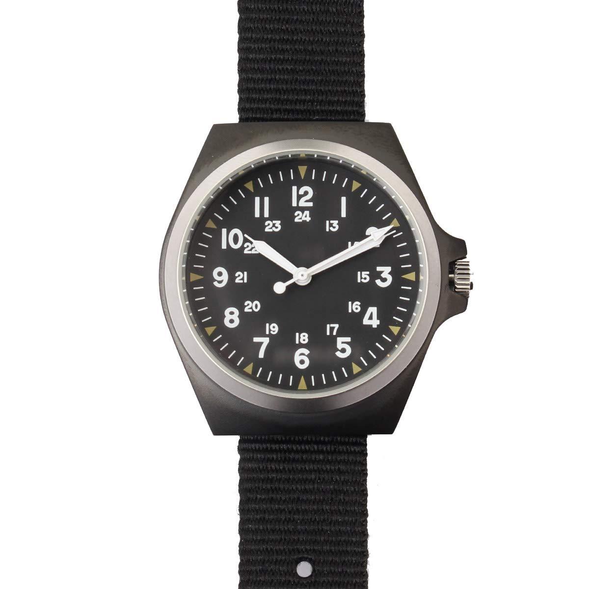 Mil-Tec Army Uhr US-Style S/Steel IP schwarz
