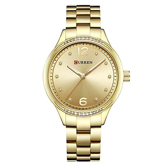 Curren relojes mujer marca de lujo reloj de cuarzo Moda Elegante reloj de pulsera regalos para Lady: Amazon.es: Relojes