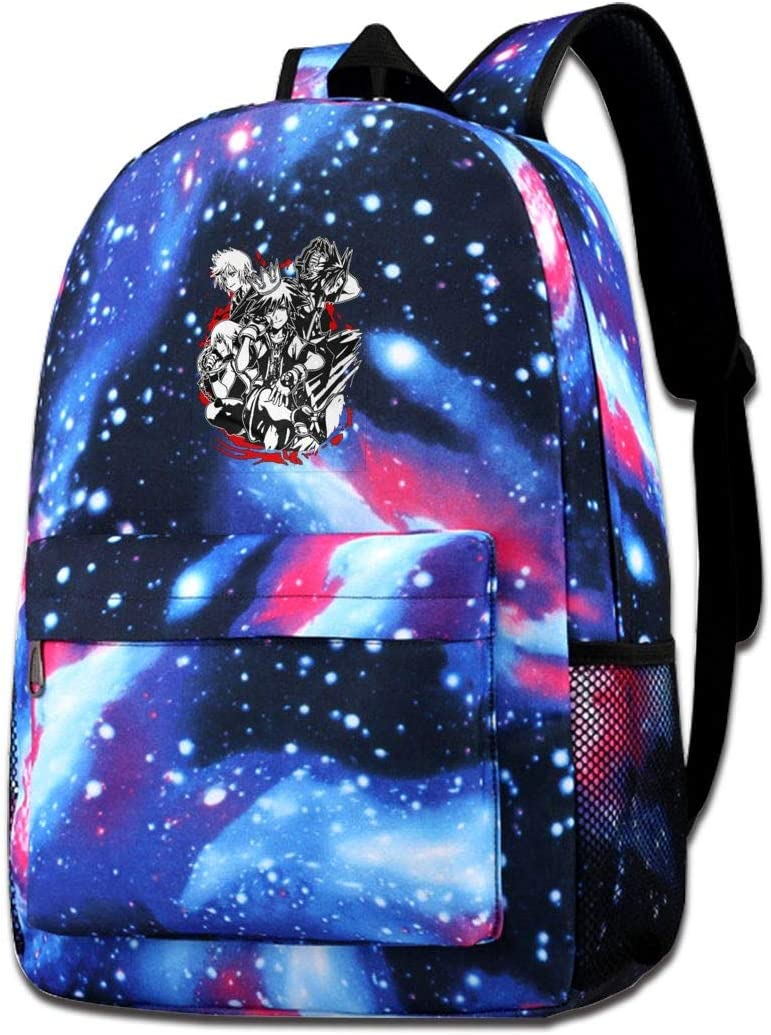 Casual Backpack Heart Of The Kingdom Starry Sky Bookbag Light Portable Travel Daypack