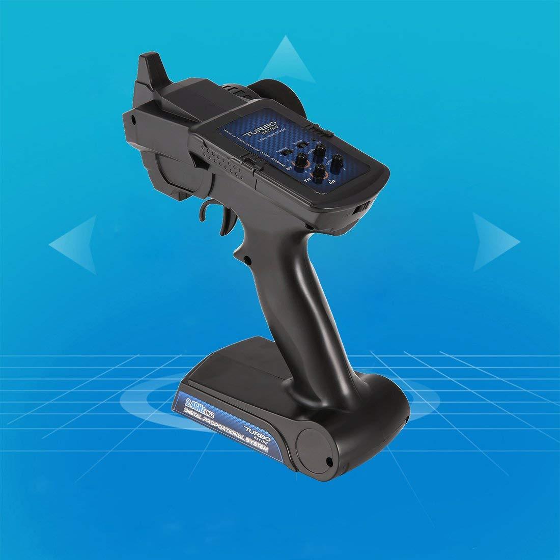 90102G 2.4GHz 2CH Radio Transmisor de Control Remoto con Receptor para RC Vehículo Todoterreno Barco Barco RC Repuestos: Amazon.es: Electrónica