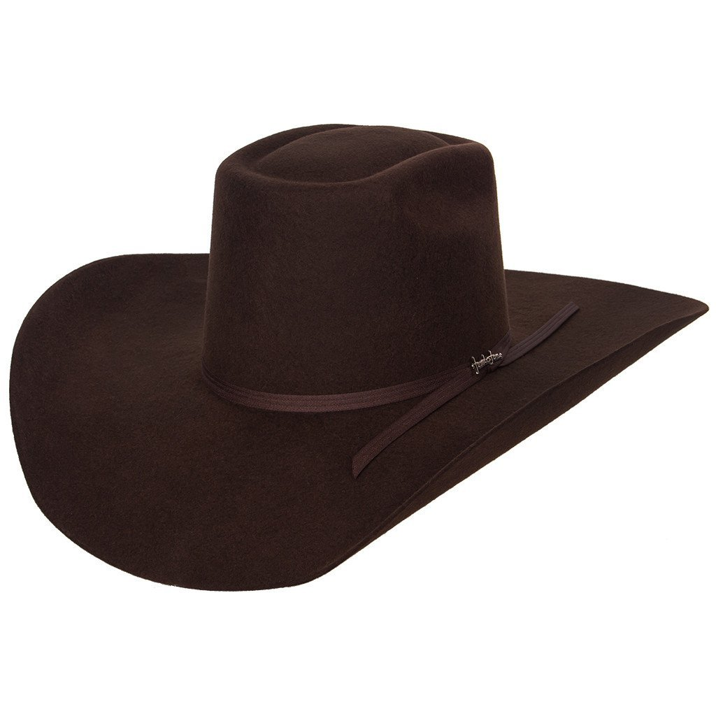 20X Tombstone Longhorn Felt Hat (7 1/8, Chocolate)