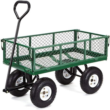 RANRANHOME Acero Jardín Carro Carros con Laterales Extraíbles, Mute, 300 Kg De Capacidad, 89X50x20cm: Amazon.es: Deportes y aire libre