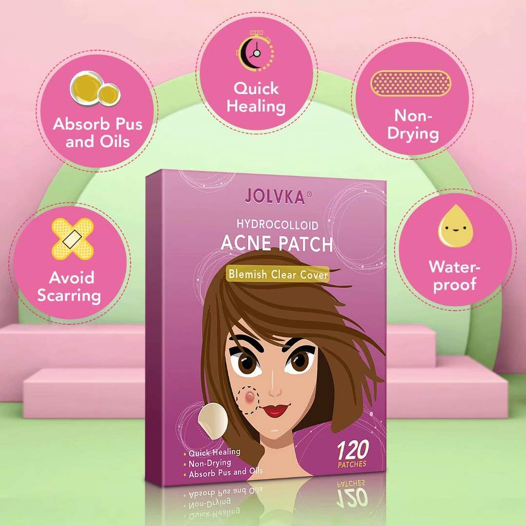 Acne Pimple Patch (120 Patches), Absorbing Hydrocolloid Spot Dots Treatment Master, Tea Tree Oil