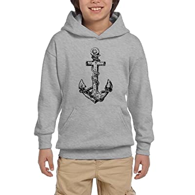 Anchor Funny Youth Pullover Hoodies Athletic Pockets Sweaters