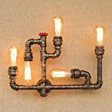 CGJDZMD Wall Sconce Retro Water Pipe Wall Lamp, Metal DIY Water Pipe Wall Light, Steam Punk Industrial Style Wall Lamp for Bar Restaurant Hotel Lamp