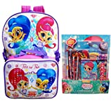 Shimmer and Shine Girls 16 inch School Backpack with Lunch Bag and Stationery Set (11 Pieces)