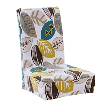 Tomtopp Printing Stretch Removable Chair Cover Wedding Non Slip Backrest Cover