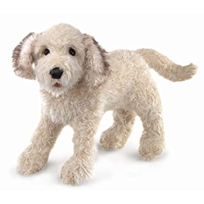 Folkmanis Labradoodle Hand Puppet, One Size, Multi: Toys & Games