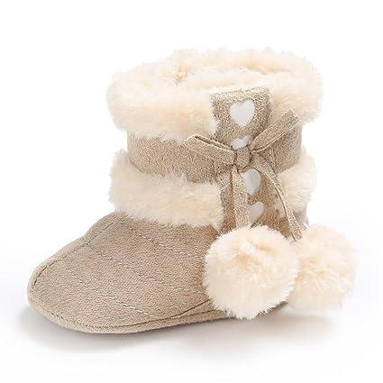 Botas de nieve TININNA para bebés de 0 a 18 meses, suela antideslizante, suave