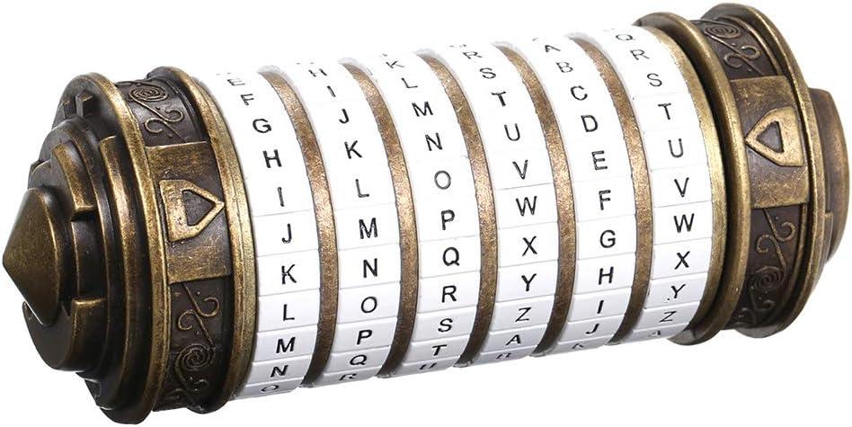 Galapara Retro Da Vinci Bloqueo de código San Valentín Día Cumpleaños Regalo con señor de los Anillos Cajas Código Juguetes Cerraduras de Metal