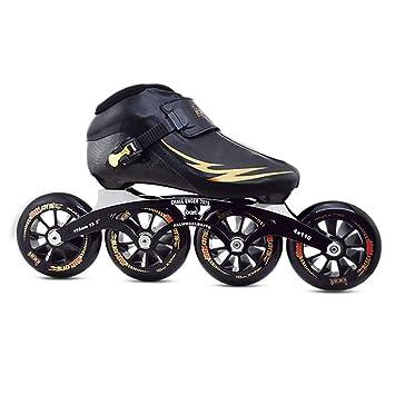 GFF SHOP Zapatos de Patinaje de Velocidad, Patines Profesionales para niños, Adultos, Fibra