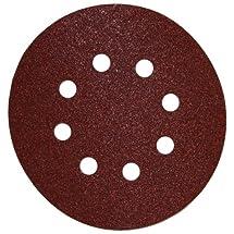 DEWALT DW4309 5-Inch 8 Hole 80 Grit Hook and LoopRandom Orbit Sandpaper (25-Pack)