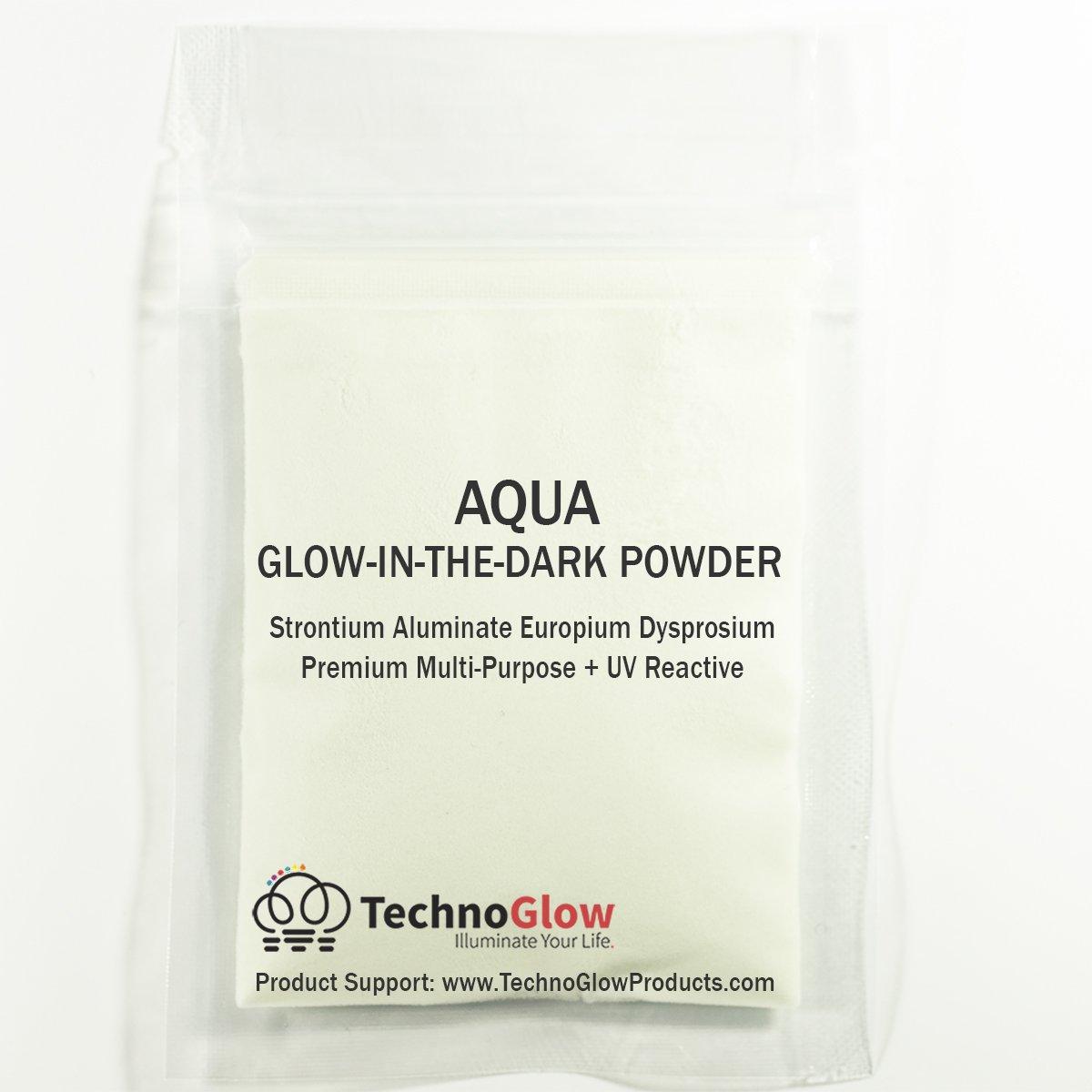 Aqua Glow in the Dark Powder | Various Sizes - 1 Pound by Techno Glow Inc (Image #2)