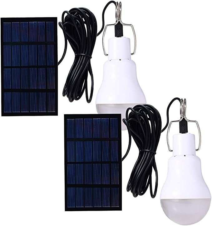 Details about  /Solar Powered LED Light Bulb Tent Lamp Yard Camping Outdoor Indoor Emergency USA