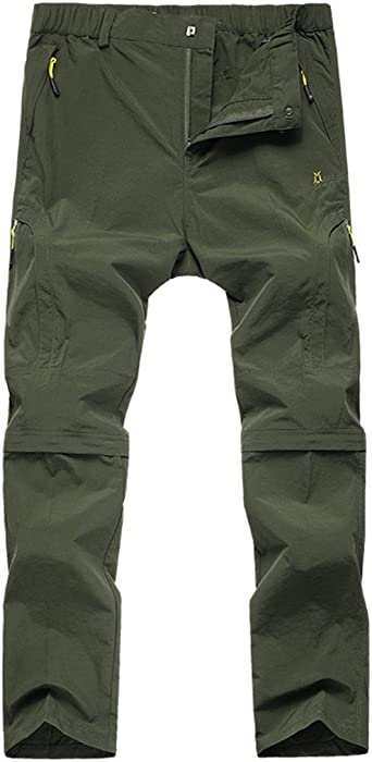 97b856751b702 KAISIKE Men's Quick-Dry Lightweight Hiking Mountain Pants Convertible Stretch  Pants(M-1401