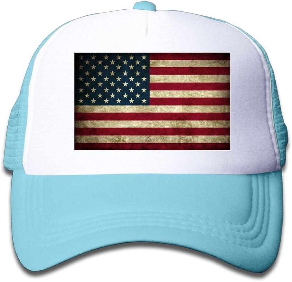 Usieis Kid Cap Vintage American Flag Mesh Caps Dad Hat Baseball Caps Adjustable Trucker Cap for Boys/&Girls