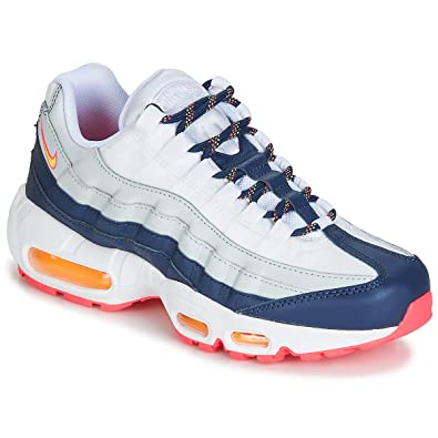 Nike AIR MAX 95 W Sneaker Damen Weiss/Blau/Orange Sneaker Low ...