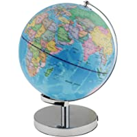 MagiDeal Illuminated Spinning World Globe Constellation Map Globe Night Light Lamp with Metal Stand for Bedroom Decoration