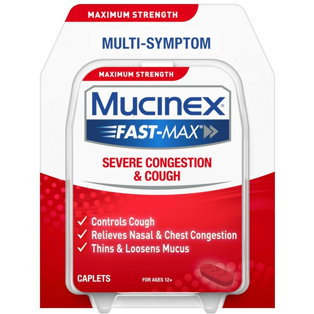 Mucinex Fast-Max Adult Severe Congestion and Cold Caplets, 20 Count (Pack of 9) by Mucinex