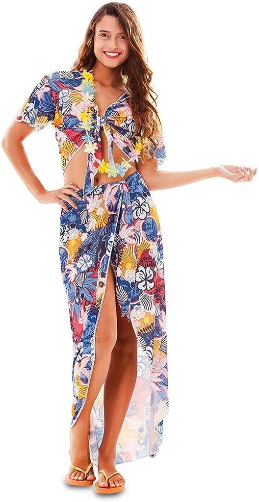 Fyasa Disfraz de chica hawaiana grande, (701846-T04): Amazon.es: Juguetes y juegos