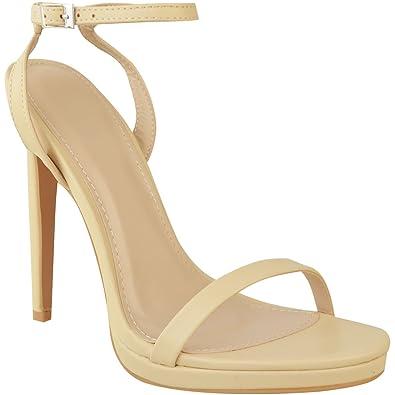 eecbd1cf2fb Fashion Thirsty Sandales à Hauts Talons Aiguilles - Lanières  Fines Plateforme Soirée - pour Femme  Amazon.fr  Chaussures et Sacs