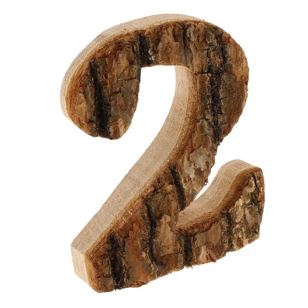 Acht non-brand Vintage Holz 0-9 Zahlen Nummer Hausnummer Haust/ürnummer Ziffern