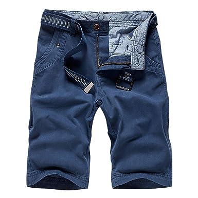 Blu Da Pantaloni Uomo Cintura Corti R4Aq3j5L