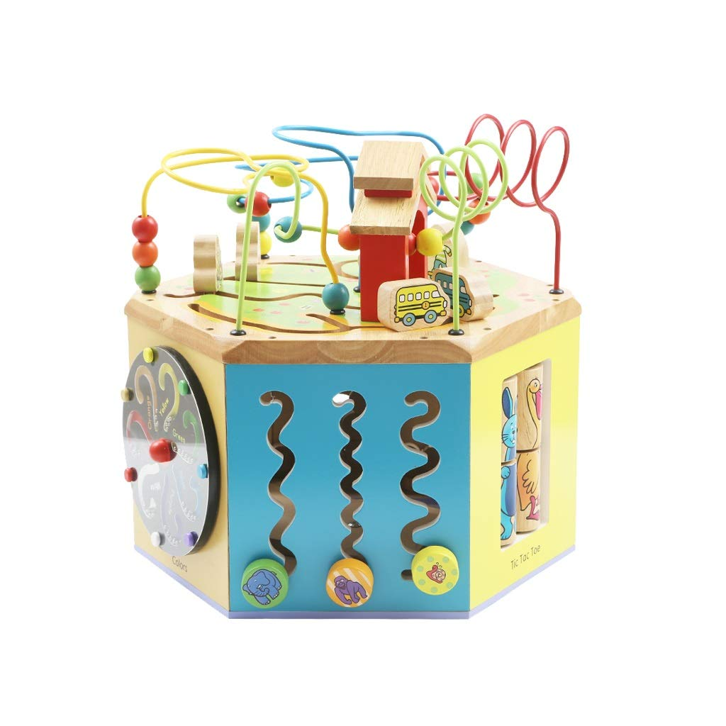 LIUFS-TOY Children's Beaded Treasure Chest Puzzle Early Learning Hexahedron Toy Gift ( Size : M ) by LIUFS-TOY (Image #1)