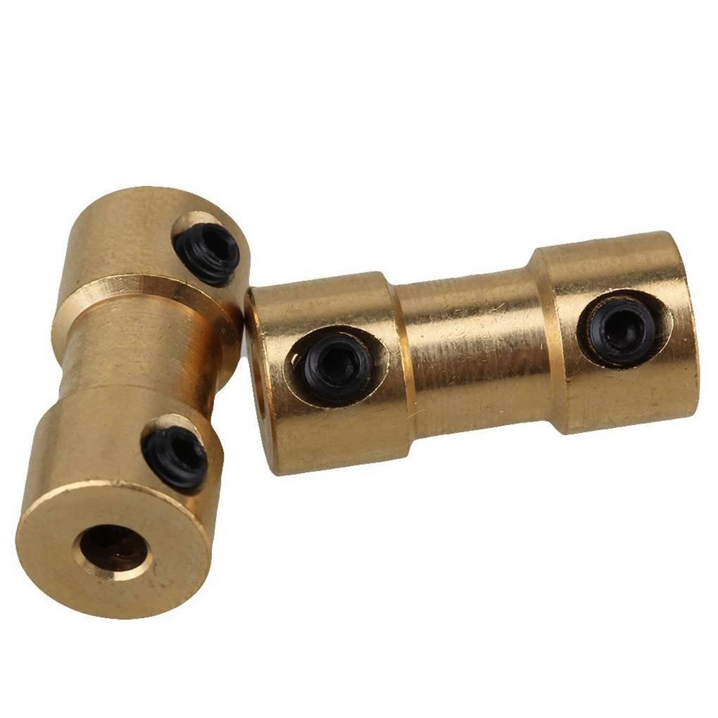 Morza Goldenes Messing Steifen Wellen Adapter-Stecker Kupplung Kupplung Motor Getriebe Stecker mit Schrauben-Schl/üssel