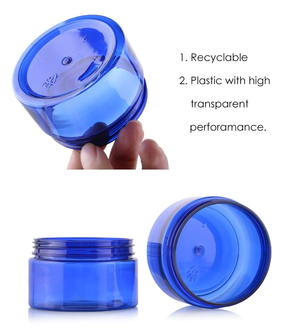 a90614fee60c Amazon.com: DLIBUY (Pack of 12) 100g Blue Empty Plastic Containers ...