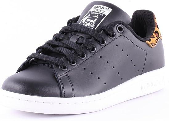 Baskets Stan Smith pour femme, marque Adidas - noir - Motif ...