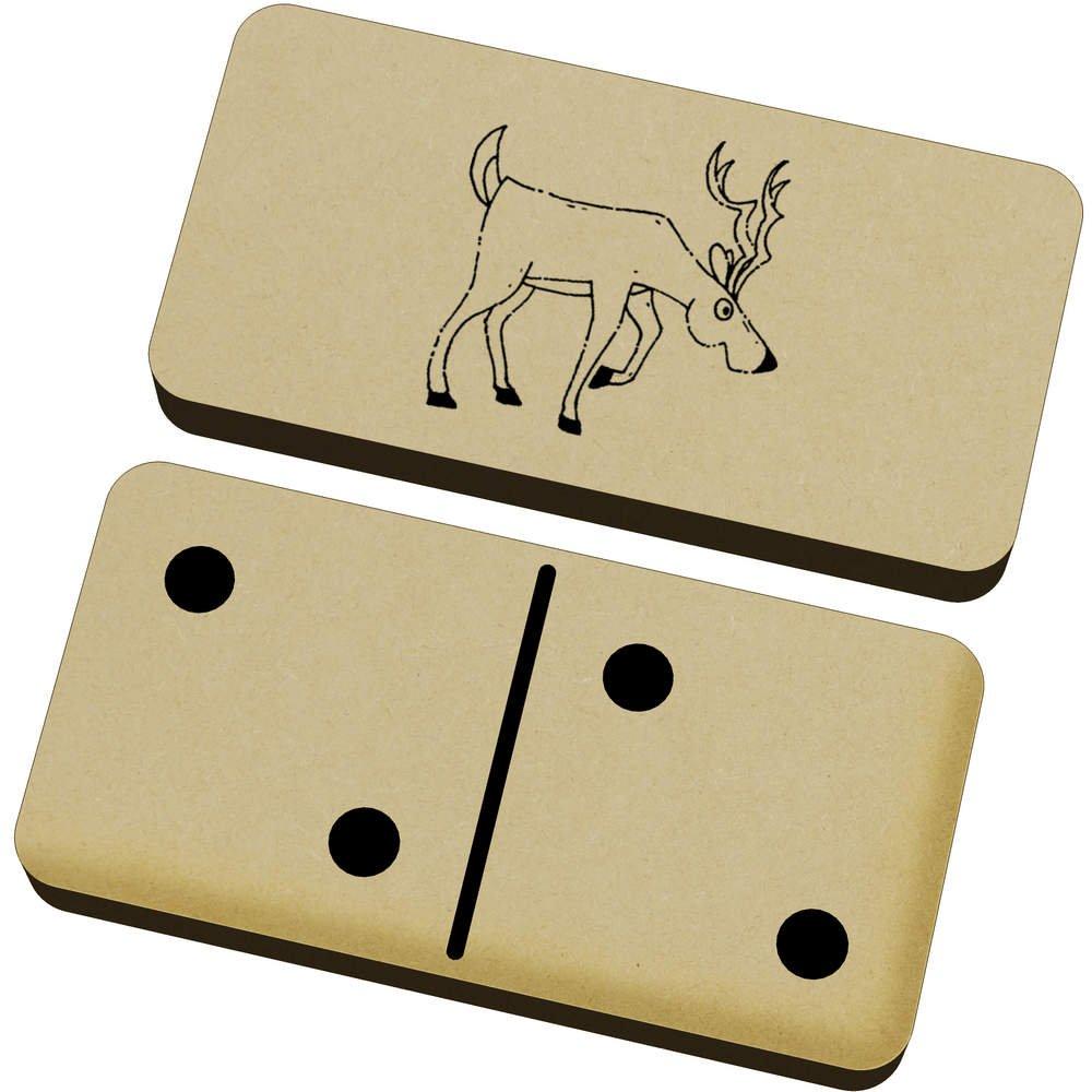 Azeeda 'Curious Stag' Domino Set & Box (DM00018108)